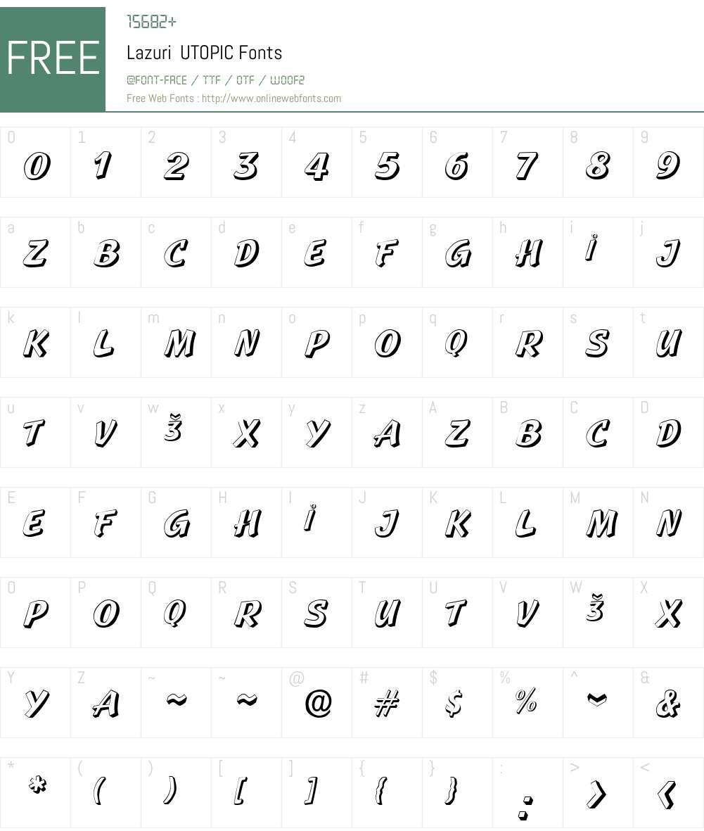 Lazuri  UTOPIC Font Screenshots