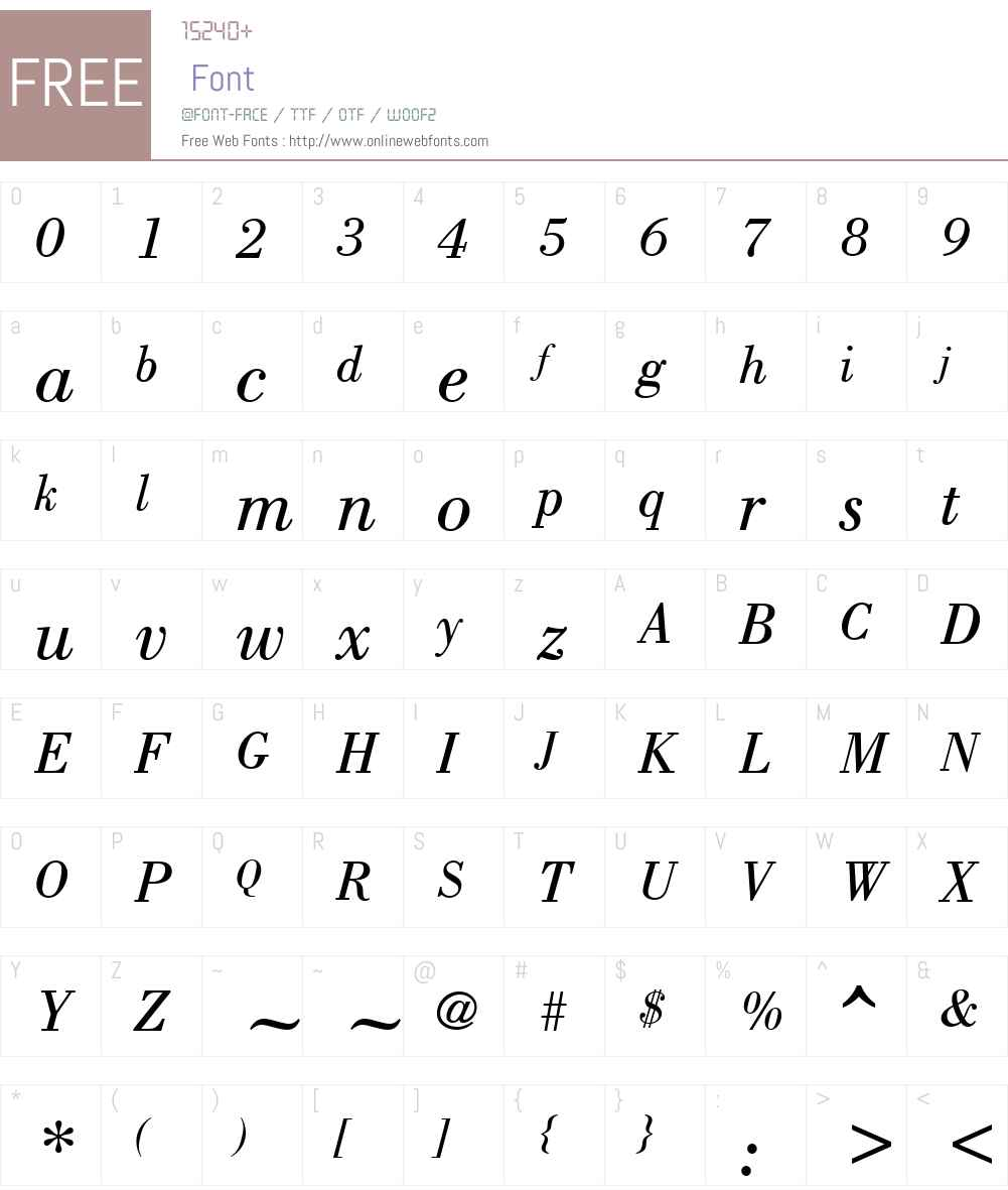 Bodony Font Screenshots