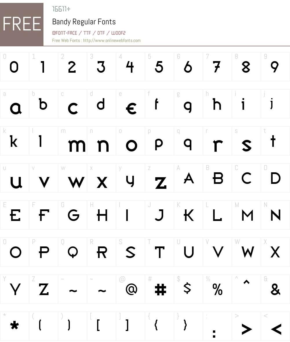 Bandy Font Screenshots