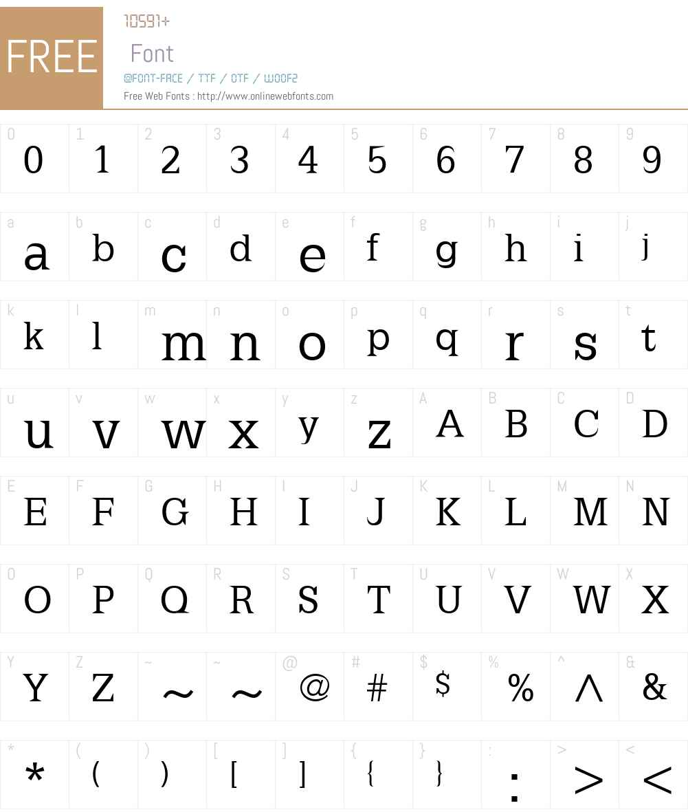 Latinia Font Screenshots