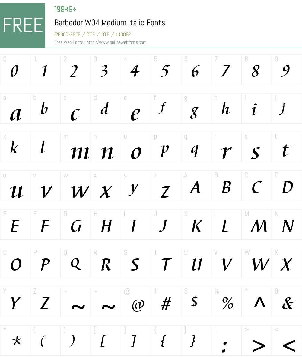 Barbedor Font Screenshots