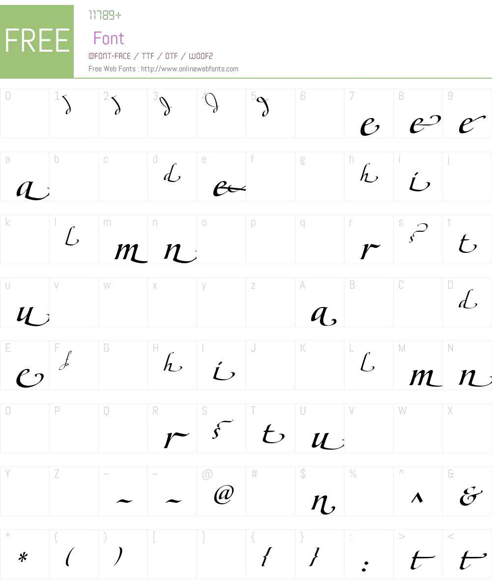 MaestroEndsIIW90-Bold Font Screenshots