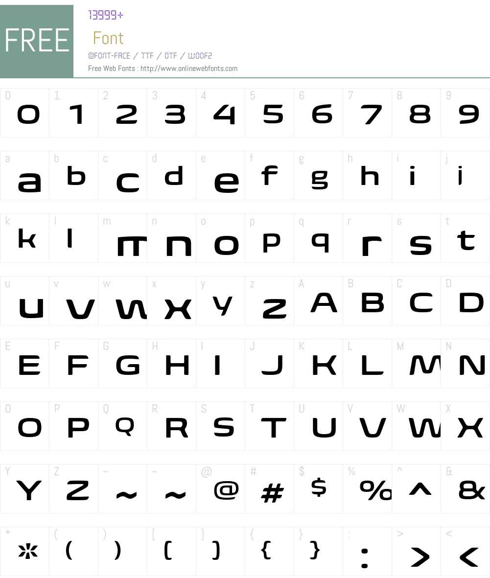 BiomeW01-WideSemiBold Font Screenshots