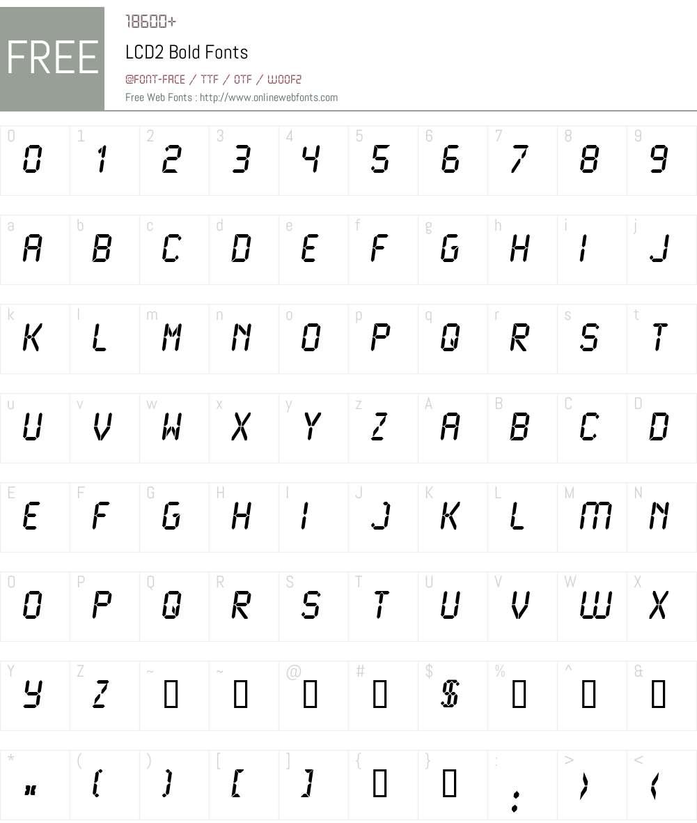 LCD2 Font Screenshots