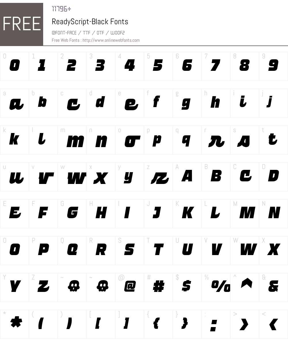 Ready Script Black Font Screenshots