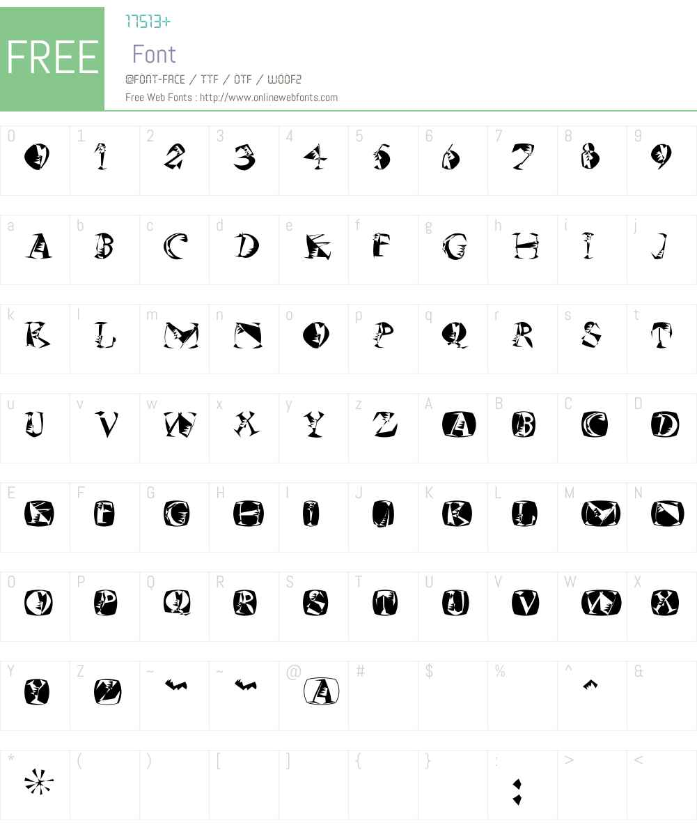 MKSzene Font Screenshots