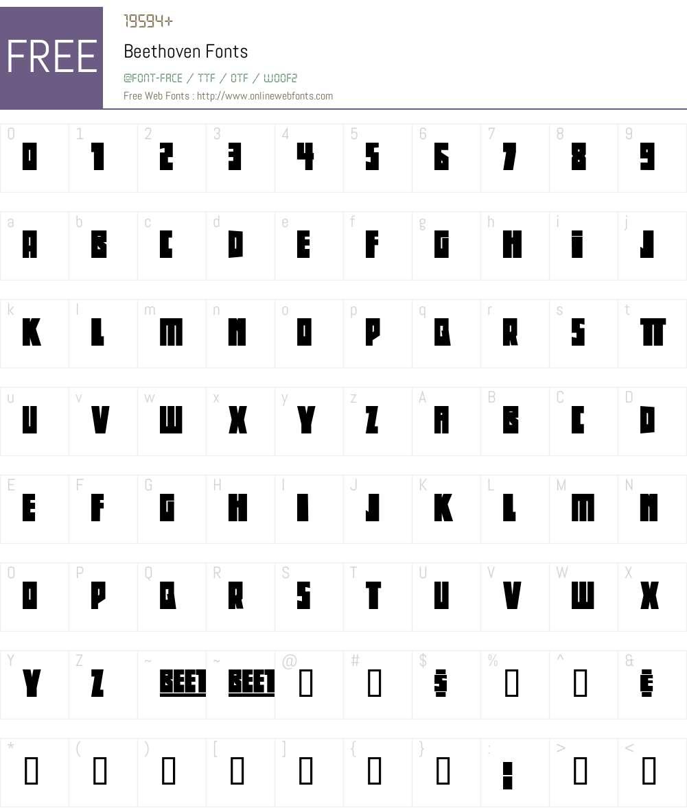 Beethoven Font Screenshots
