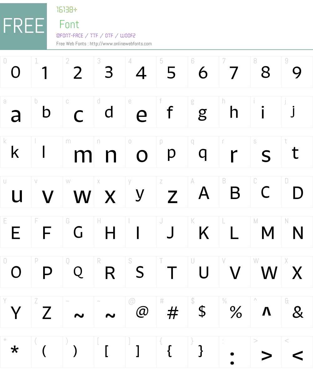 Khang Md Font Screenshots