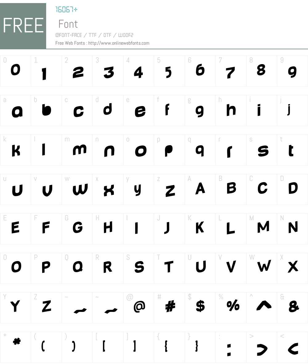 BabyMine Font Screenshots
