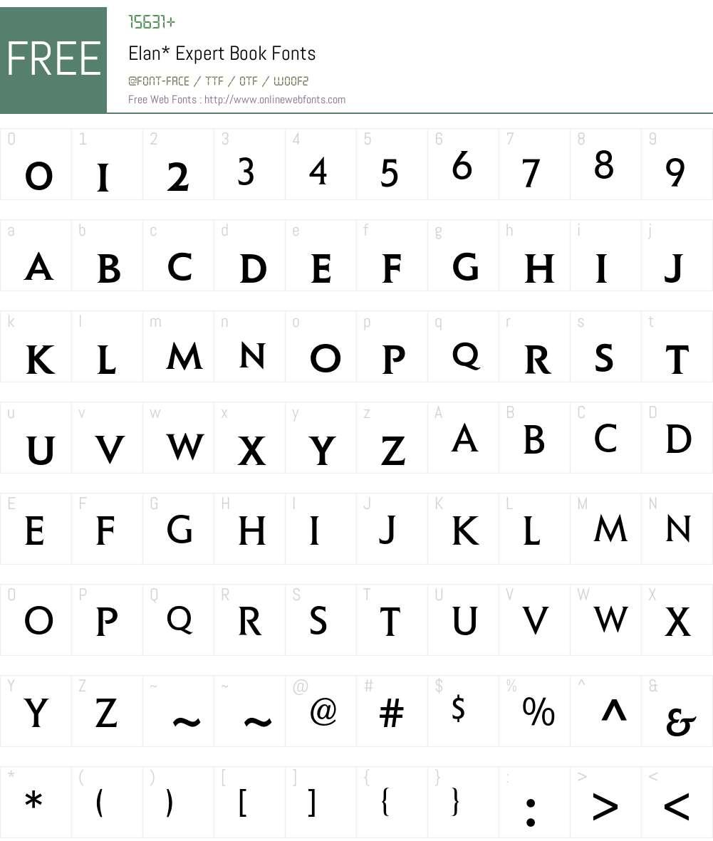 Elan Expert BQ Font Screenshots