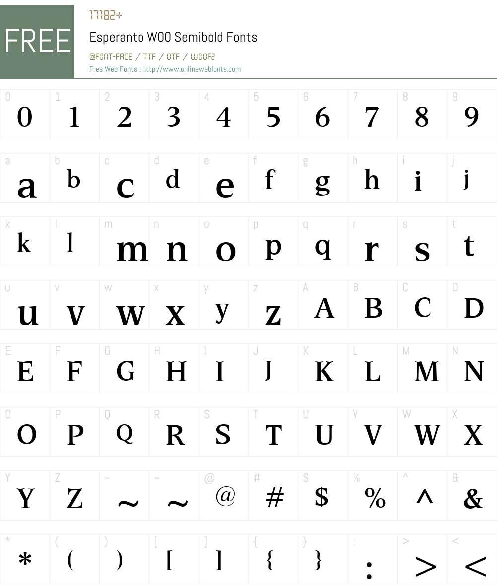 EsperantoW00-Semibold Font Screenshots
