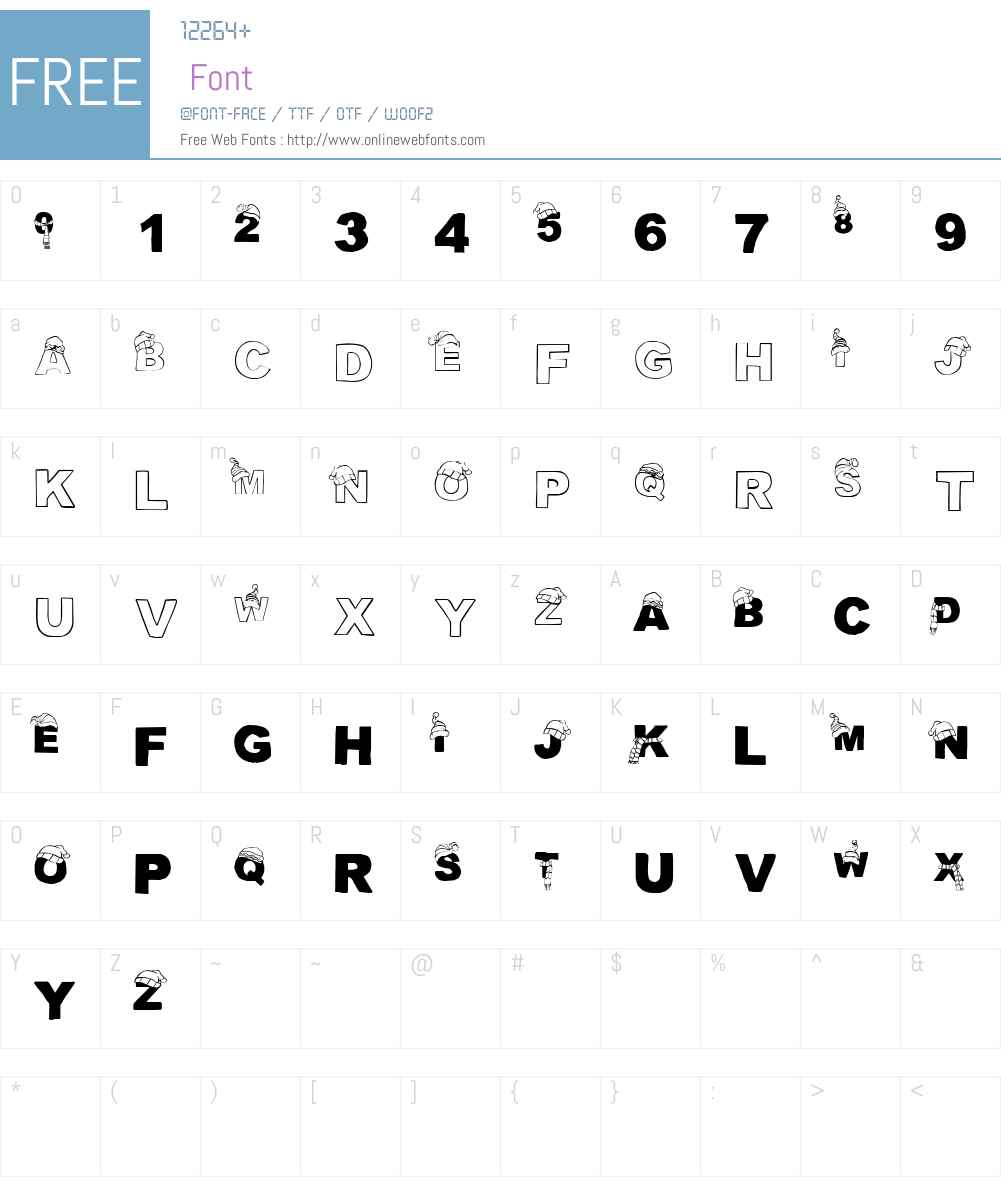 CF Tuques Font Screenshots