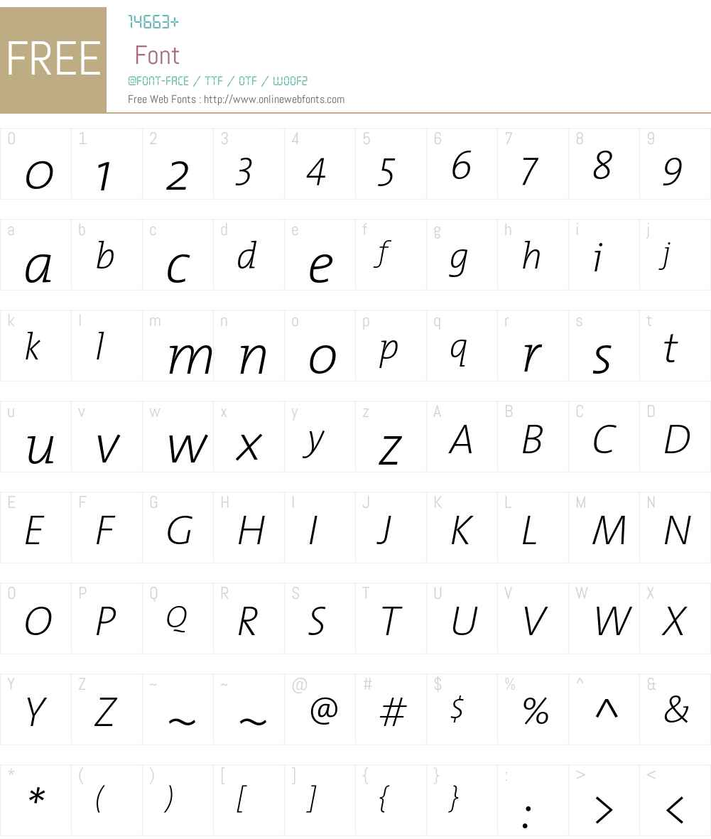 TMixExtraLight Font Screenshots