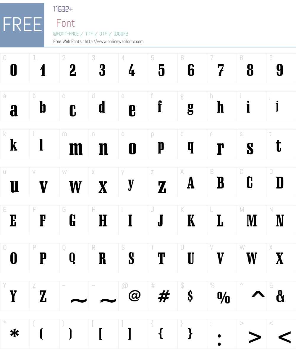 Schadow BlkCn BT Font Screenshots