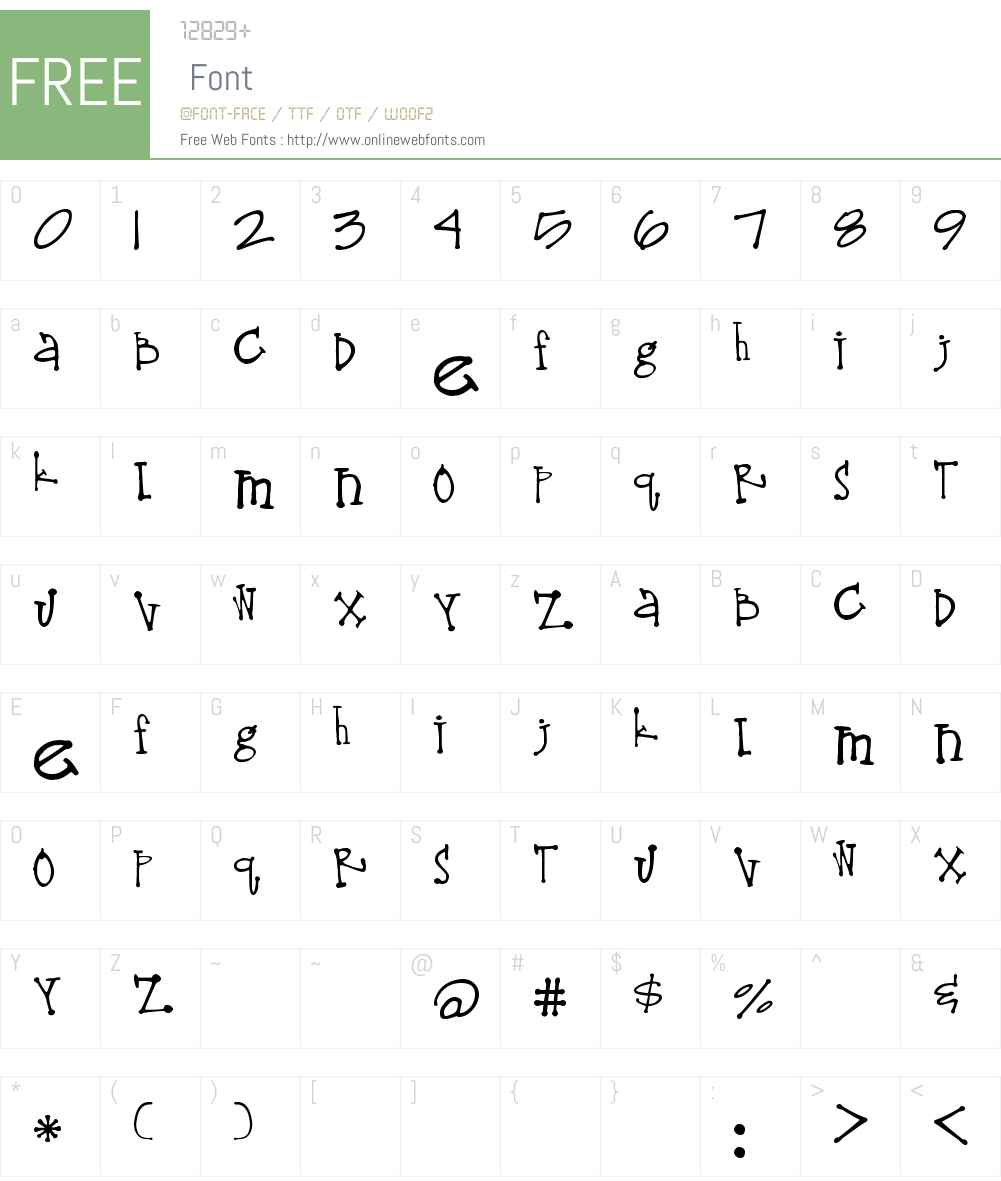 Lima Bean Font Screenshots