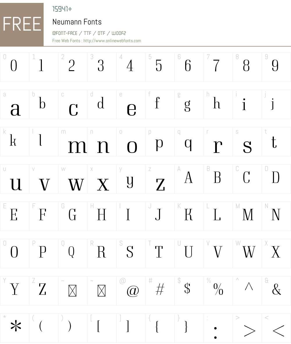 Neumann Font Screenshots