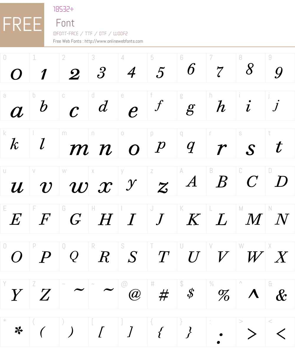 Bodoni Six ITC Font Screenshots