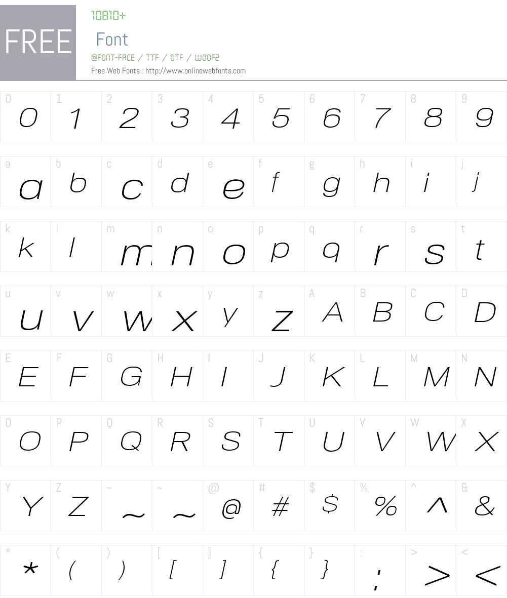NeoGramExtendedW00-LightIt Font Screenshots