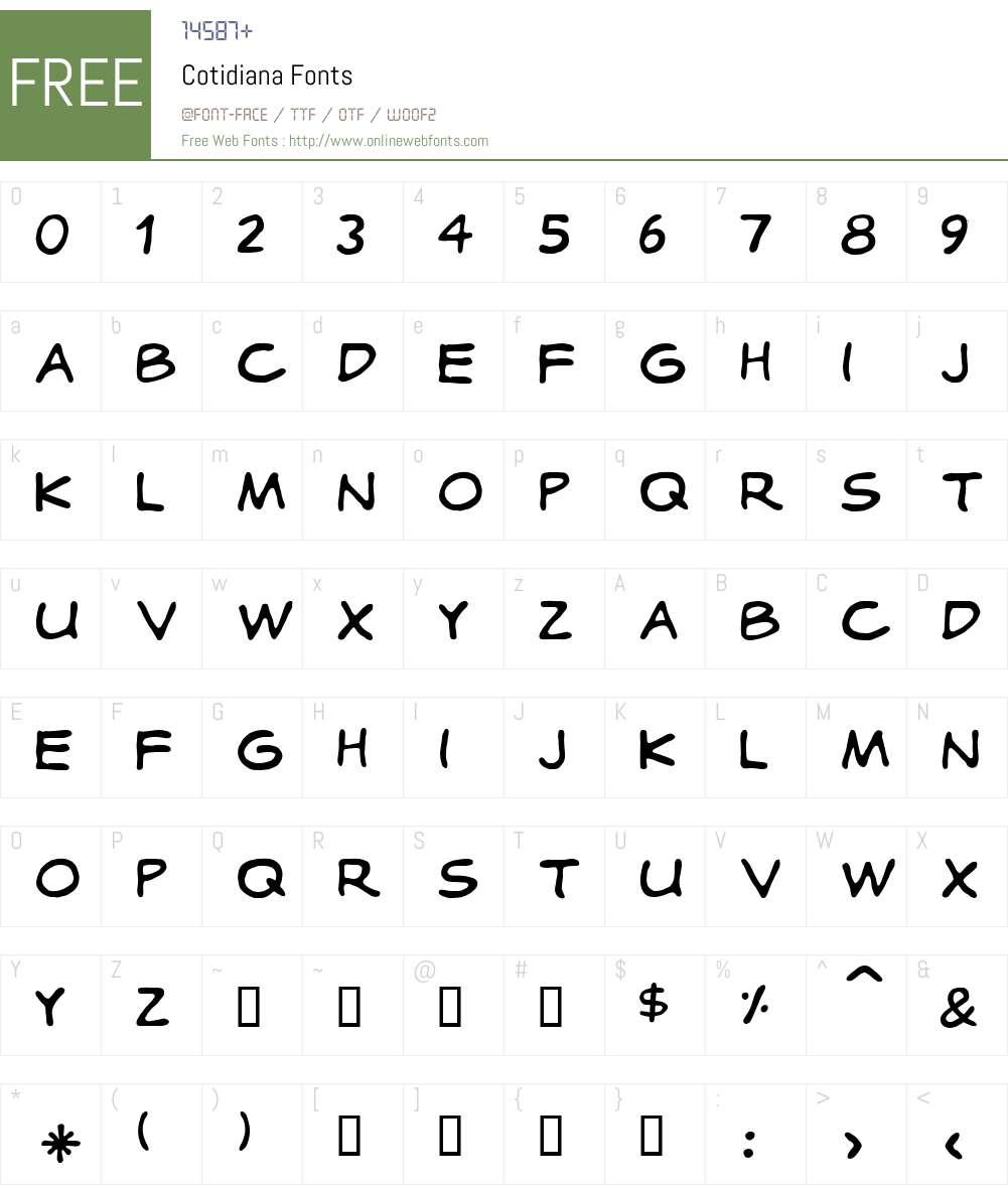 Cotidiana Font Screenshots