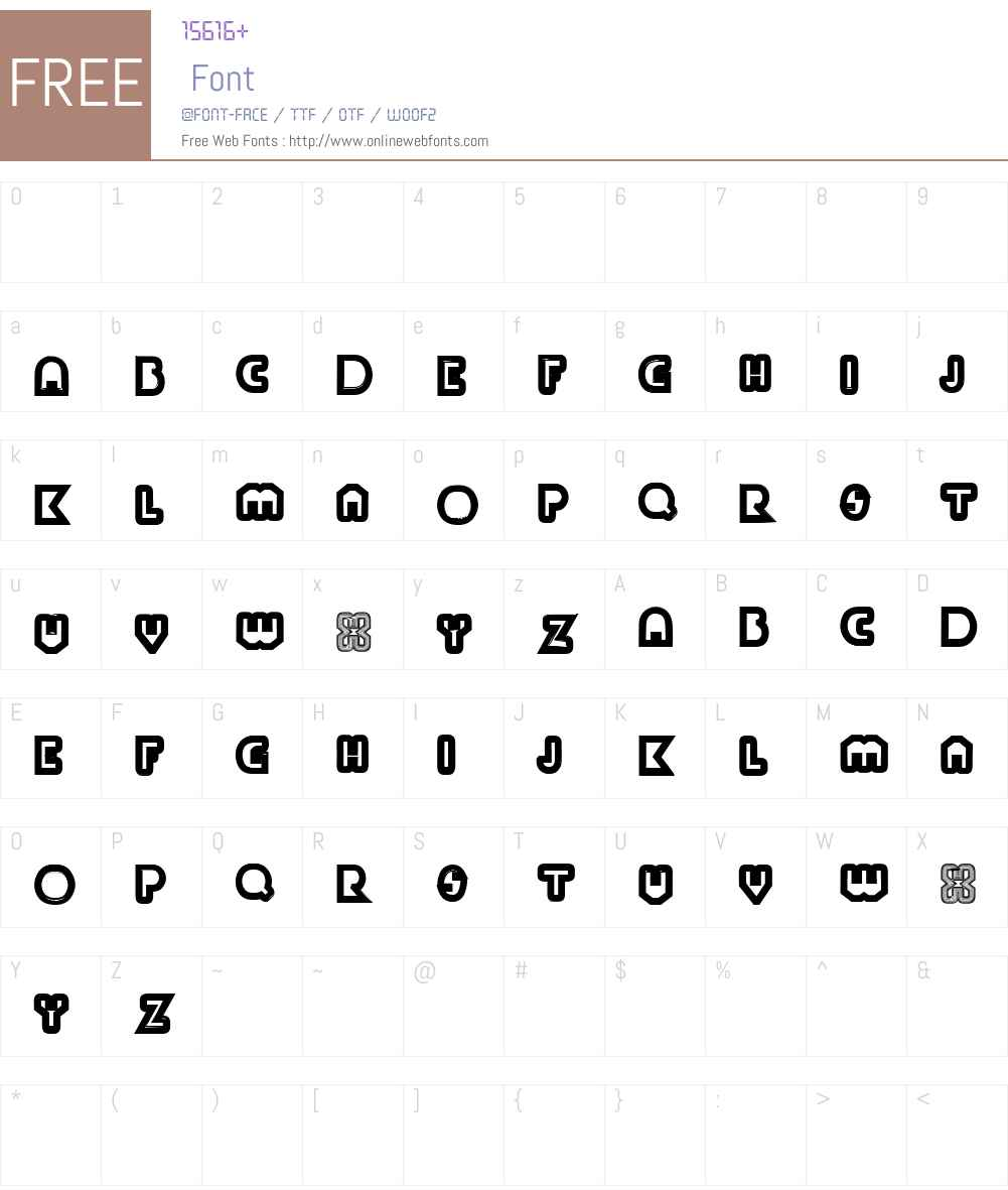 PaulKleinTwo Font Screenshots