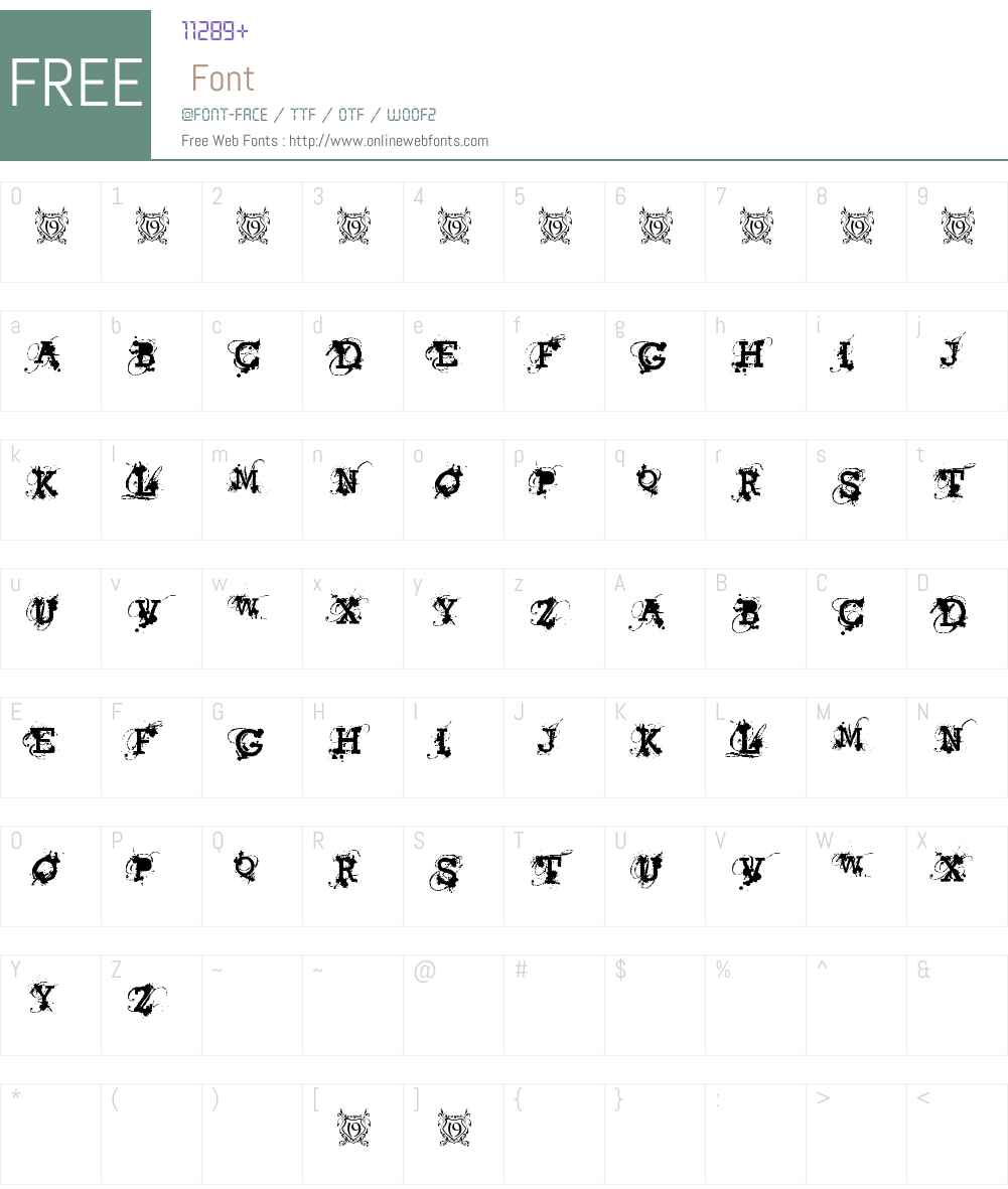American Bravado Font Screenshots