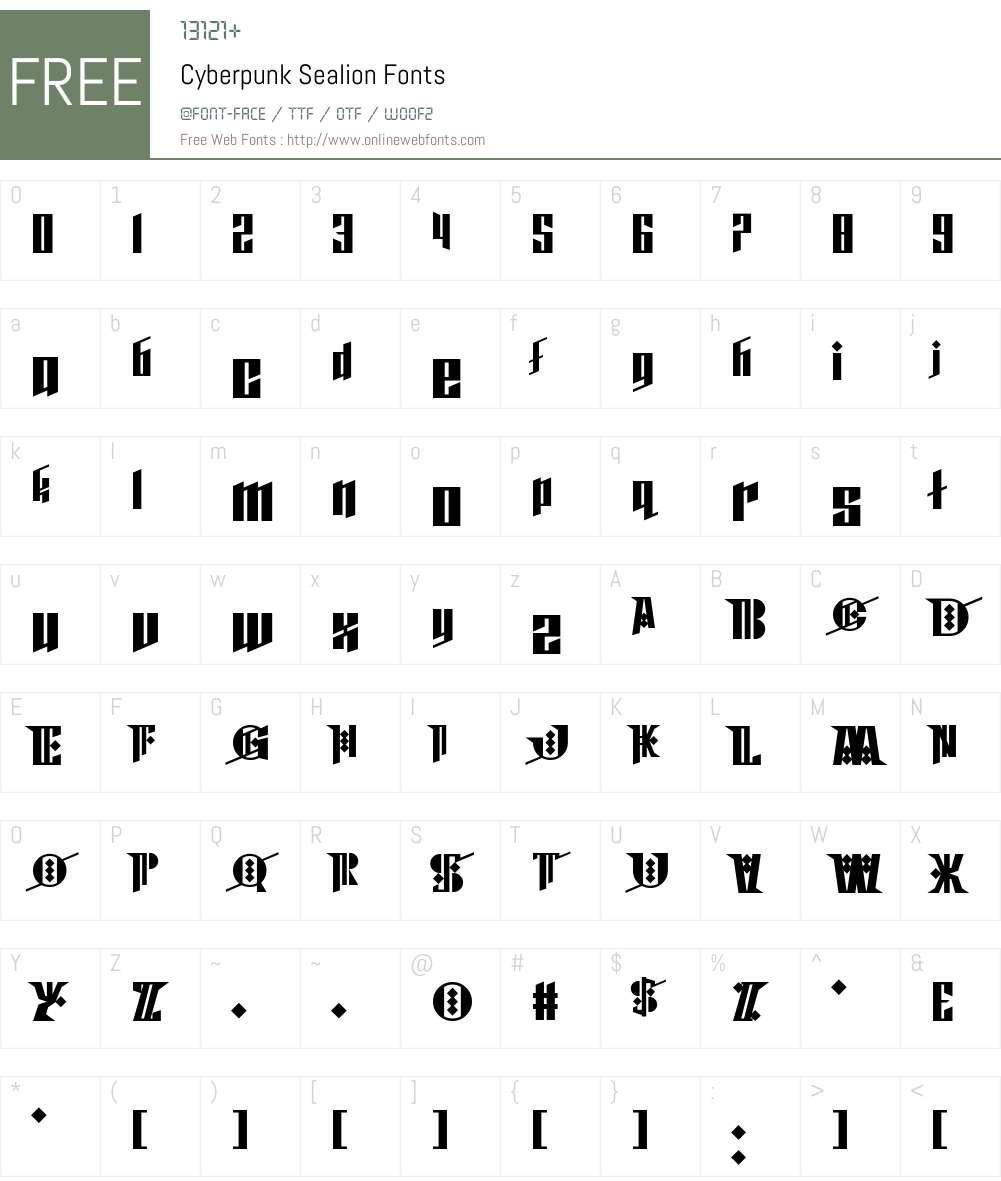 Cyberpunk Sealion Font Screenshots