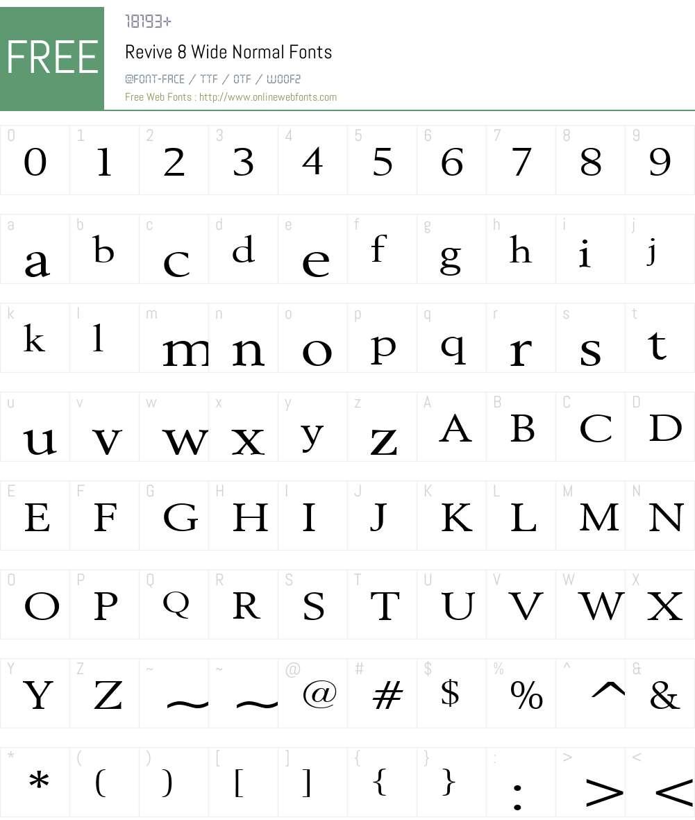 Revive 8 Wide Font Screenshots