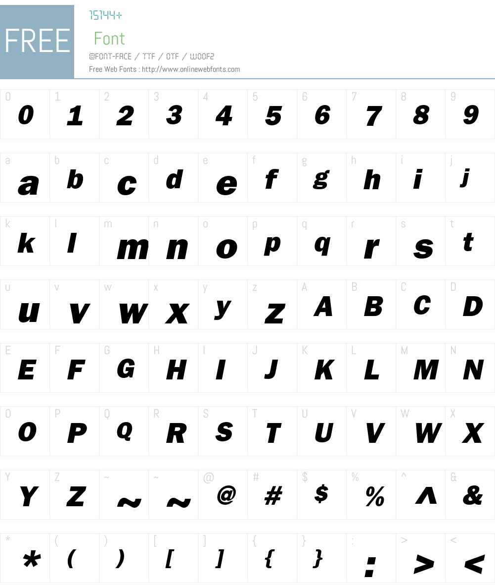 ITC Franklin Gothic Font Screenshots