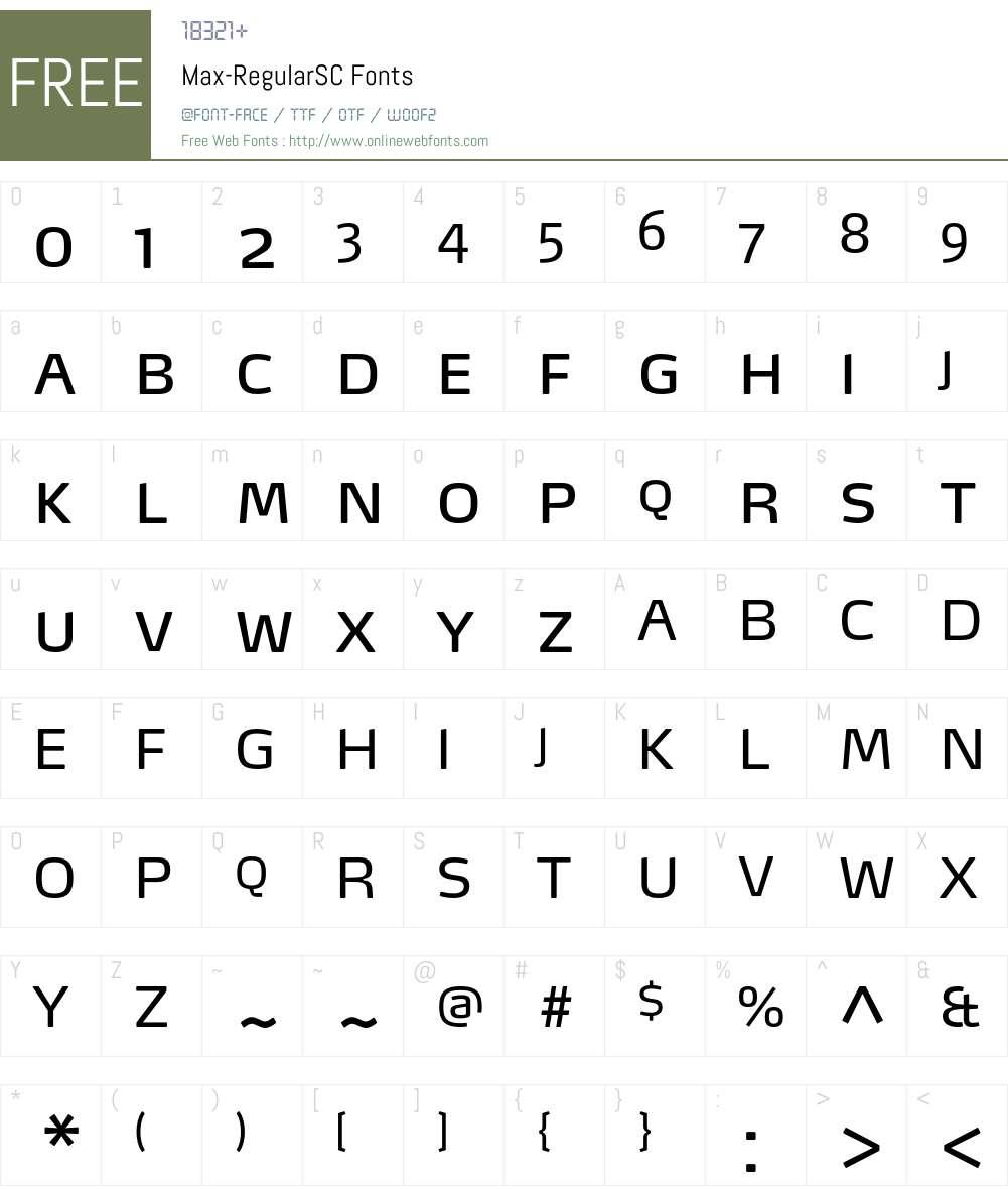 Max-RegularSC Font Screenshots