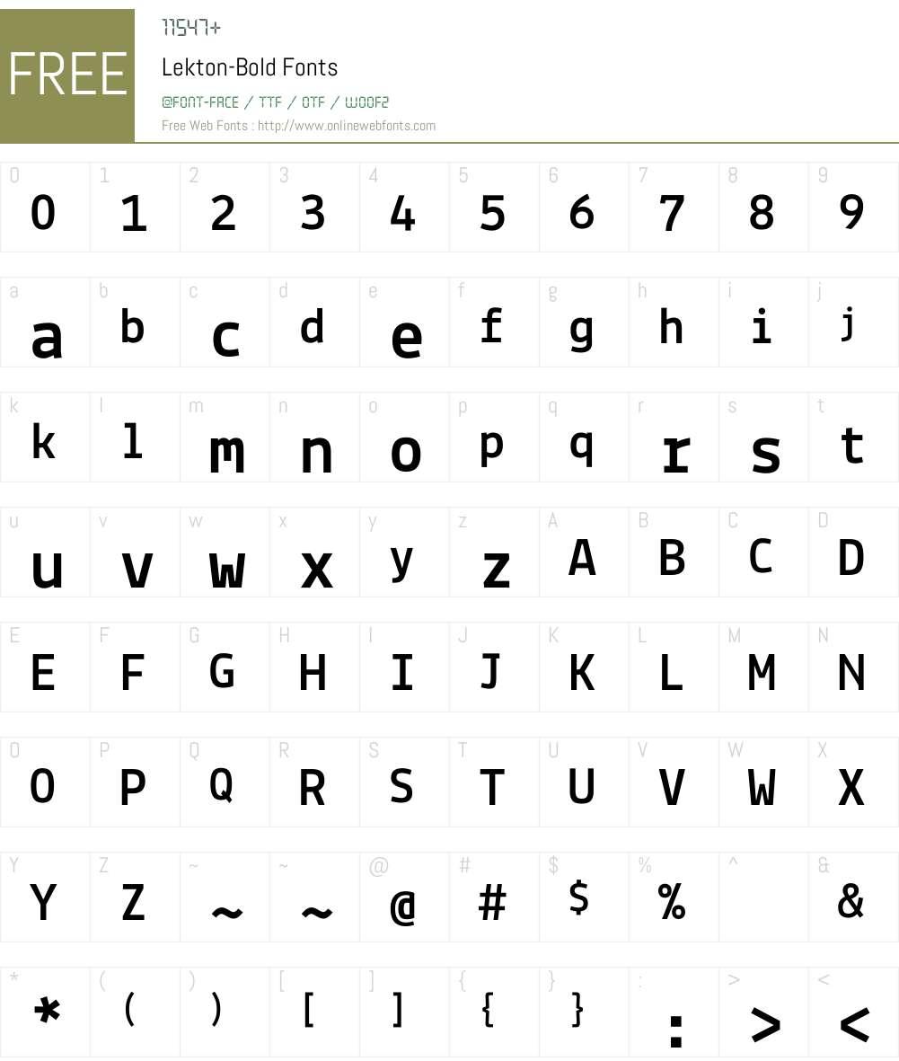 Lekton Font Screenshots