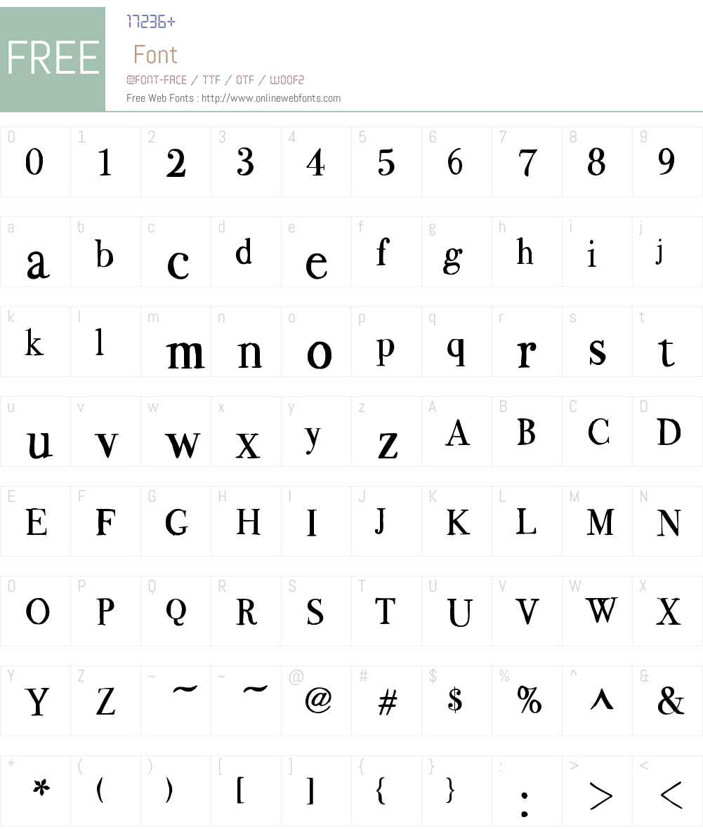 BodoFlo Font Screenshots