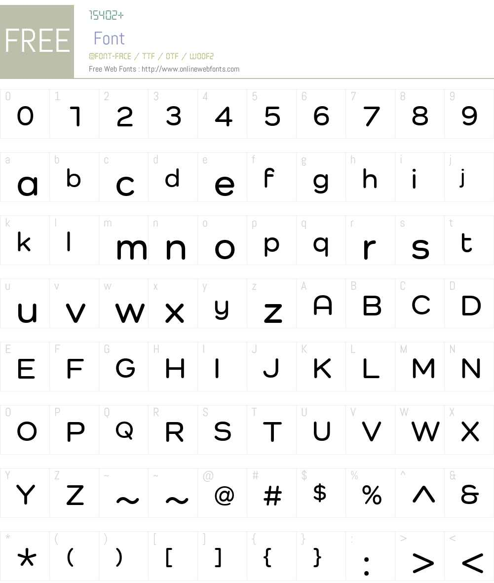 Como Font Screenshots