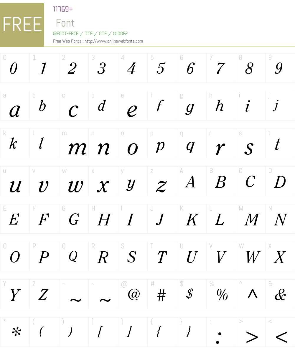 ITC Clearface Std Font Screenshots