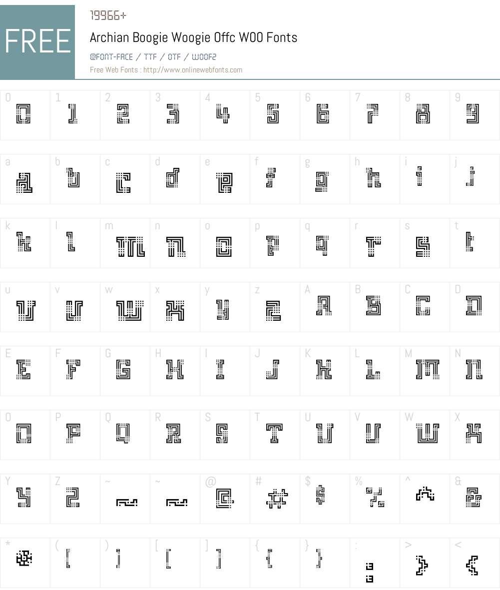 FF Archian Font Screenshots