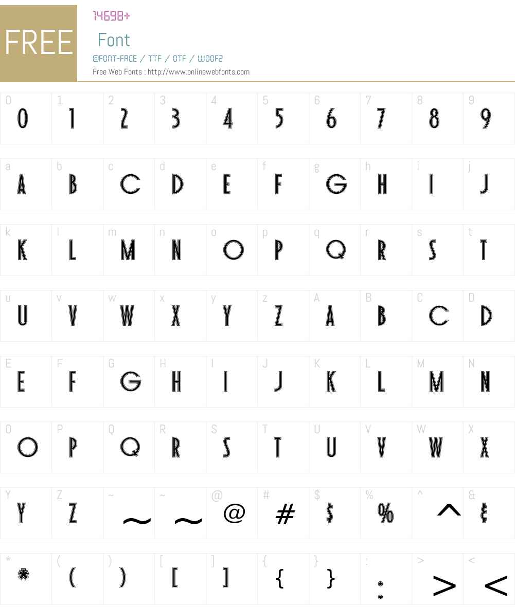 Toasted Vein BTN Inline Font Screenshots