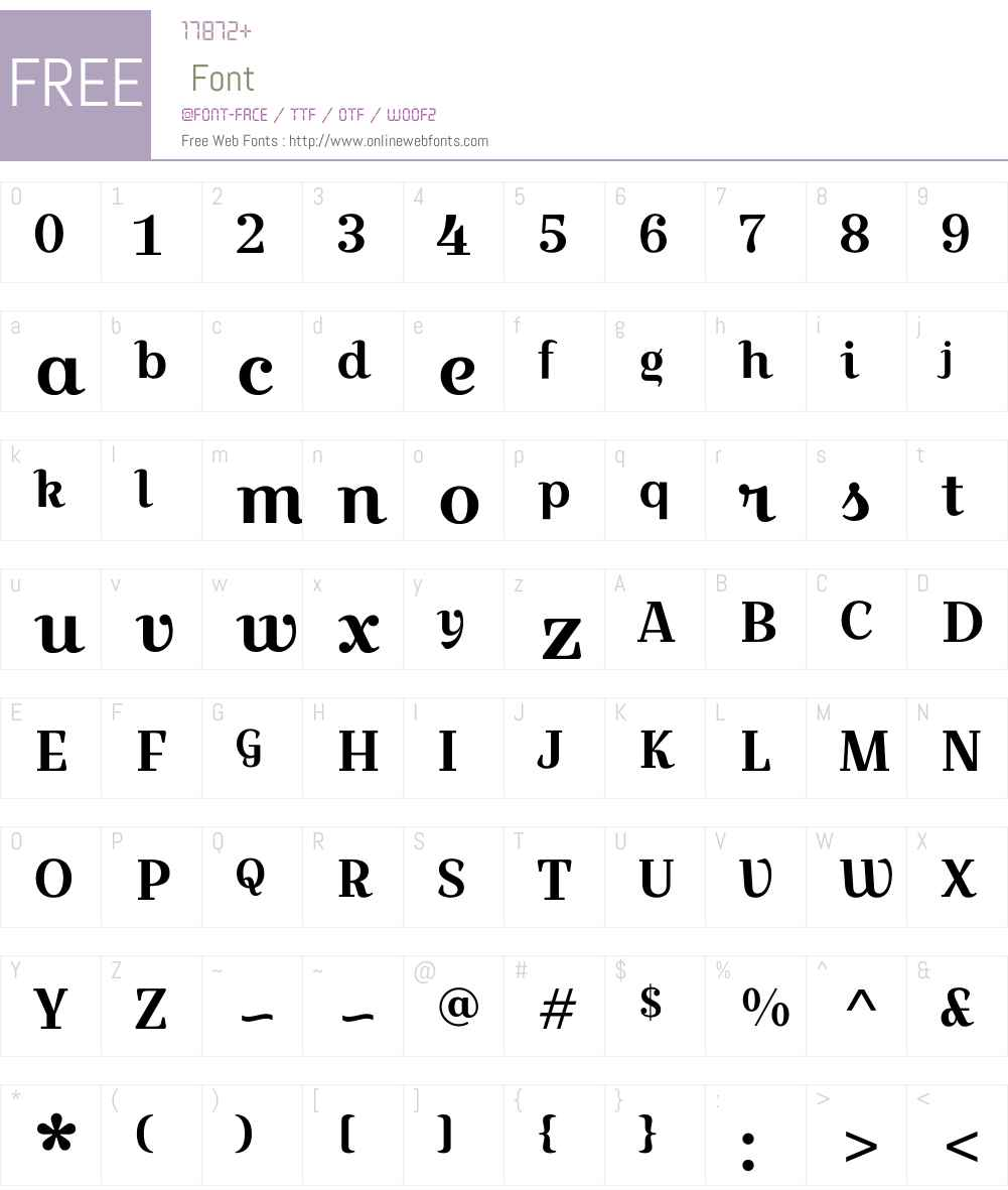 Croissant One Font Screenshots