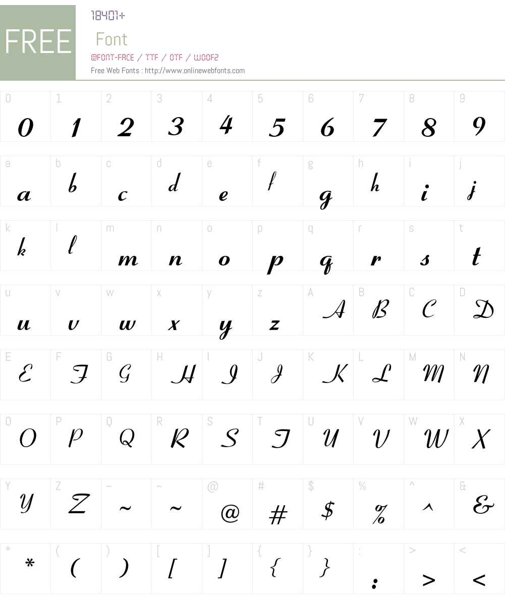 OPTICoyonetBold Font Screenshots
