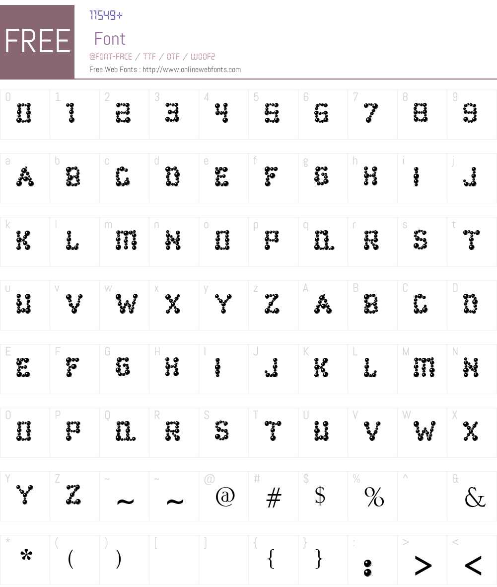 ballbearings Font Screenshots