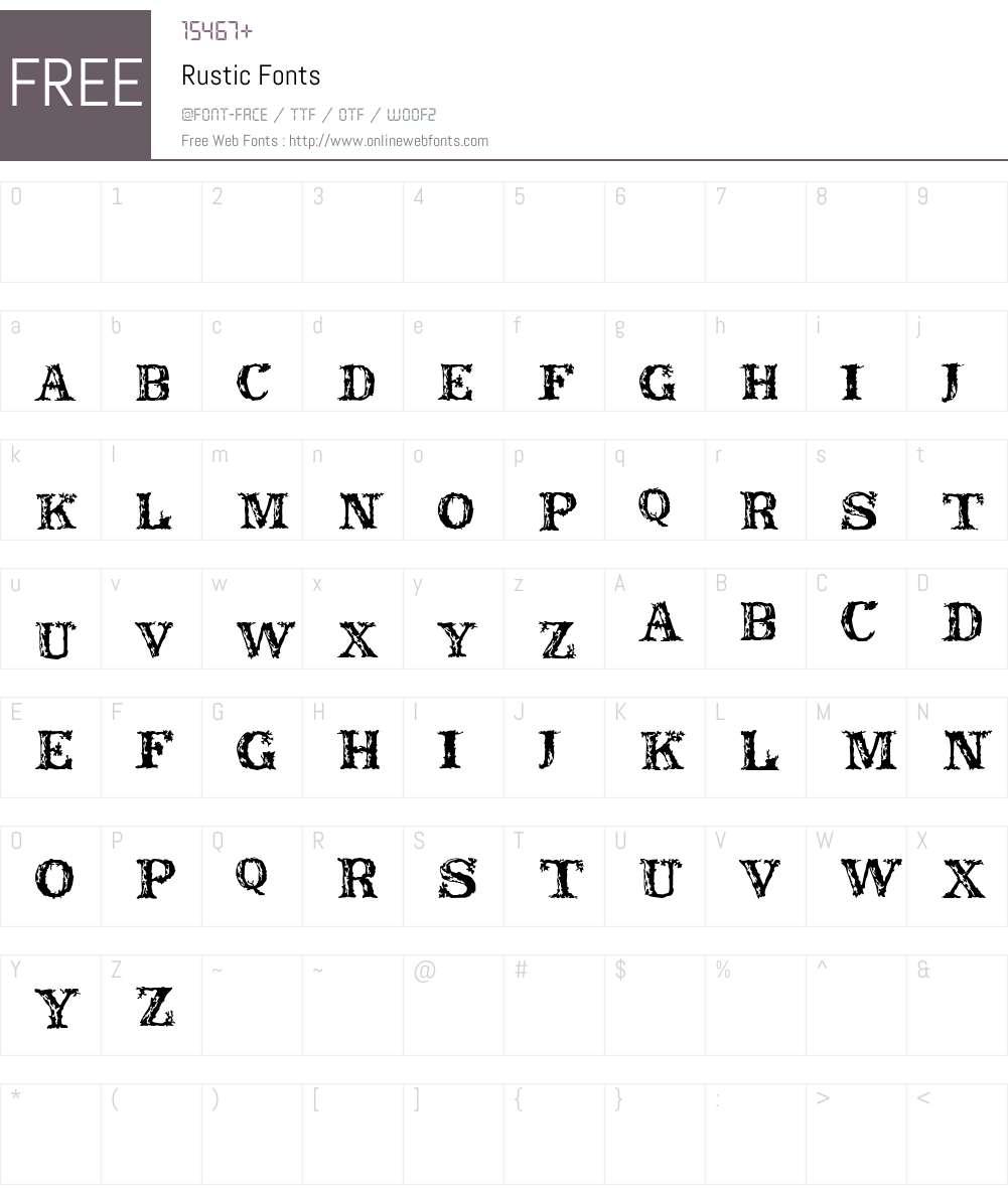 Rustic Font Screenshots
