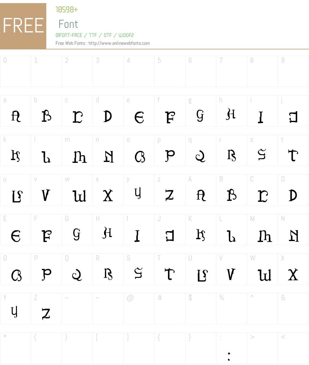 PiratesDrake Font Screenshots