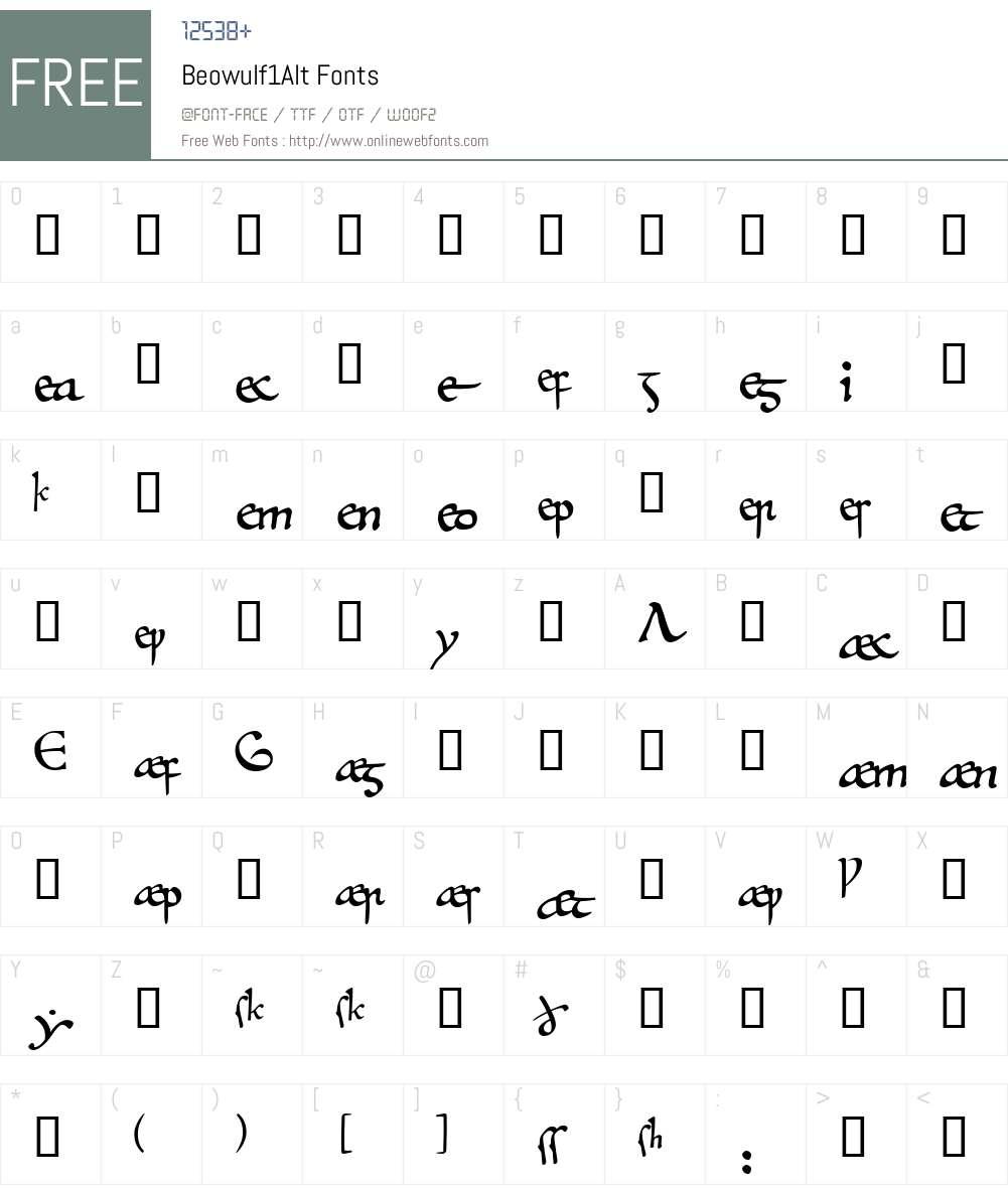 Beowulf1Alt Font Screenshots