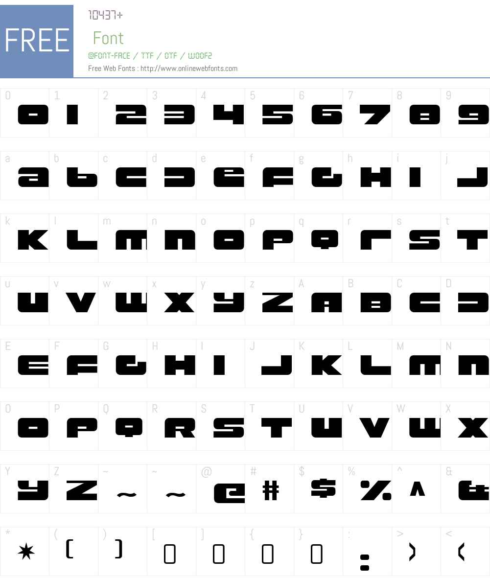 RustproofBodyW90-Regular Font Screenshots