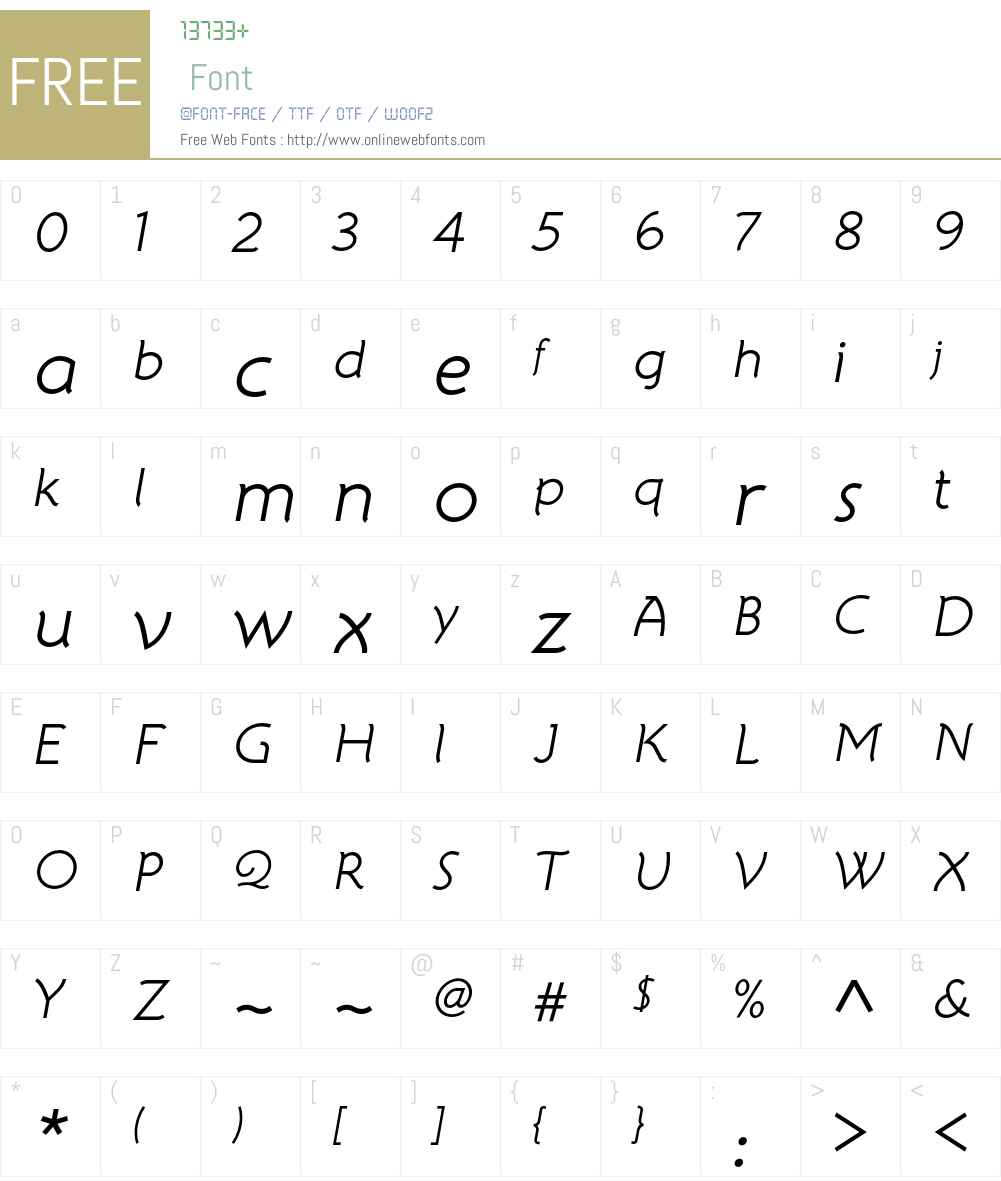 Atelier Sans ITC Std Font Screenshots