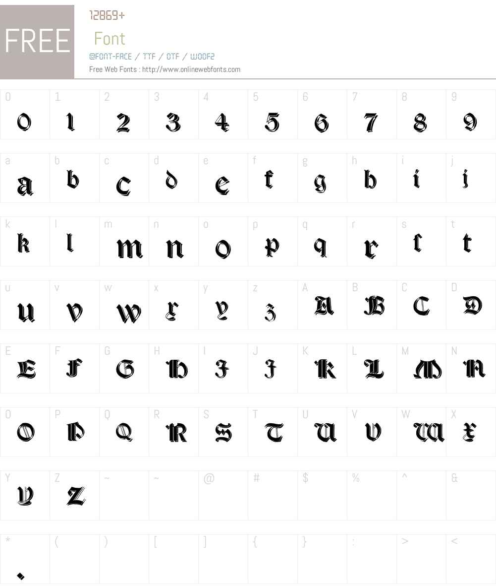 Salterio Shadow Font Screenshots