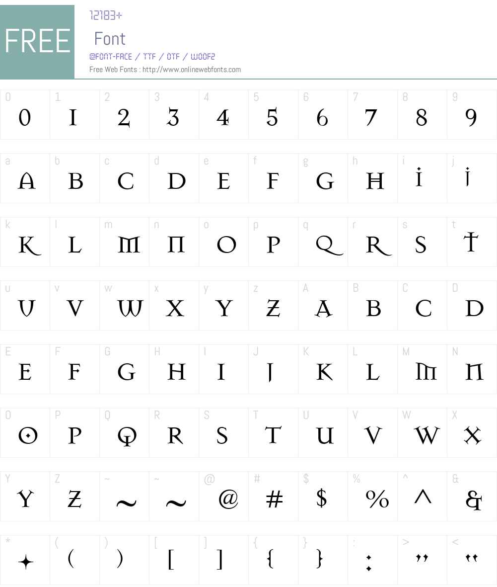 MasonSuper Font Screenshots
