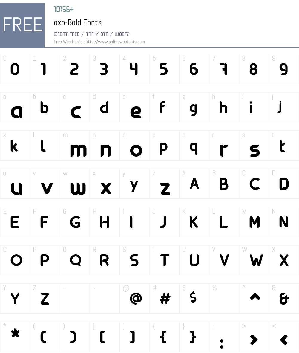 oxo-Bold Font Screenshots