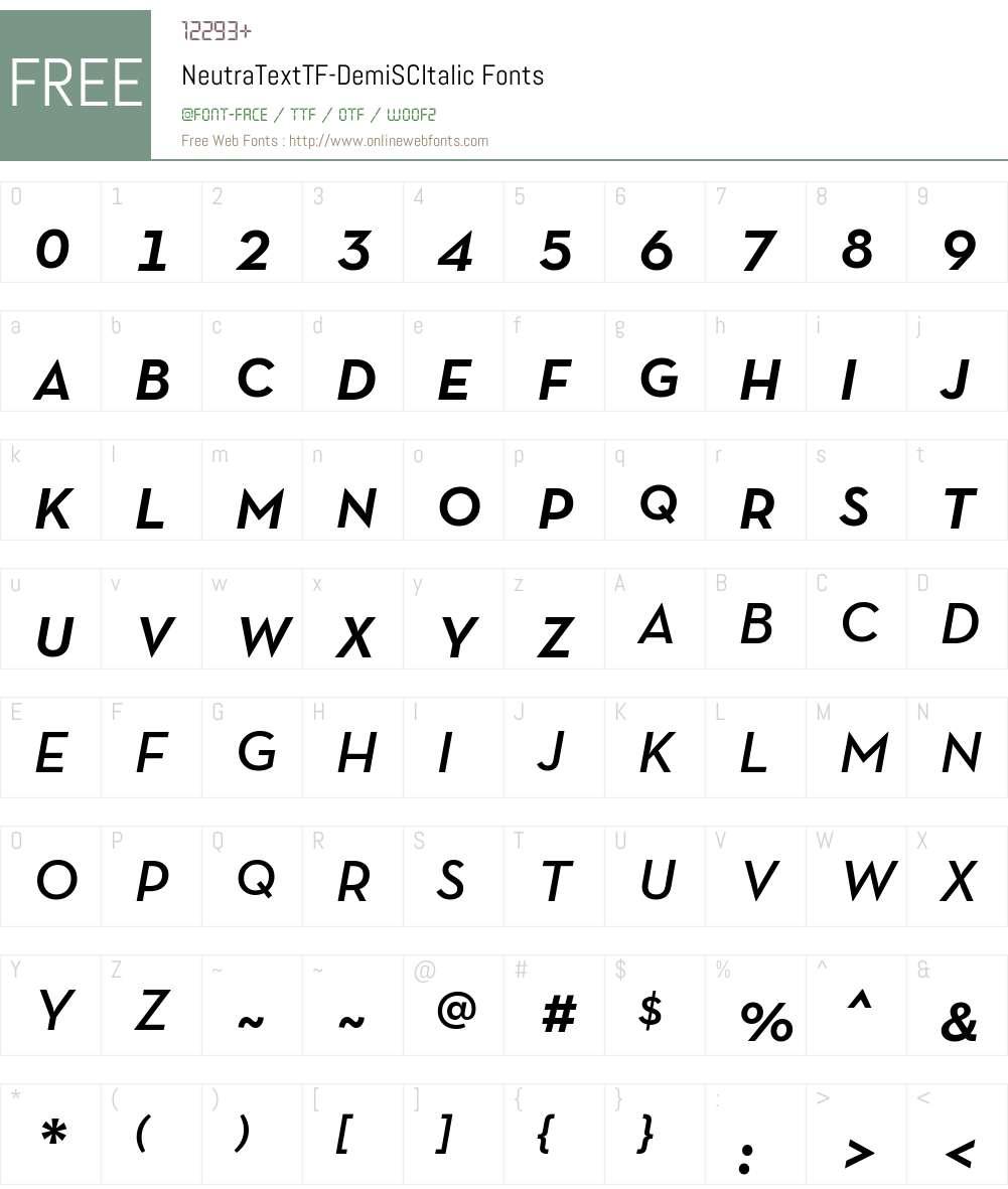 Neutra Text TF Light SC Font Screenshots