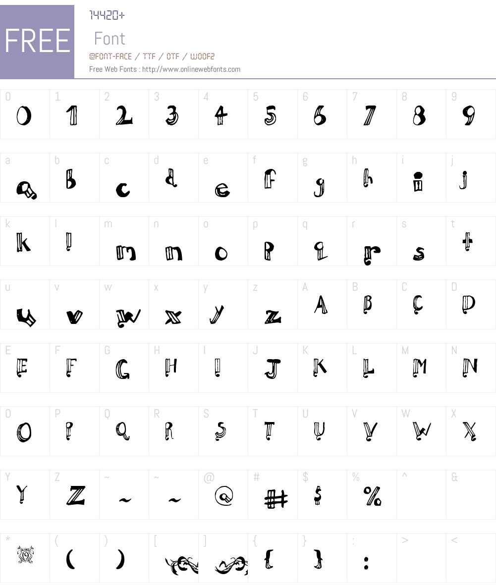 Perrymint Font Screenshots