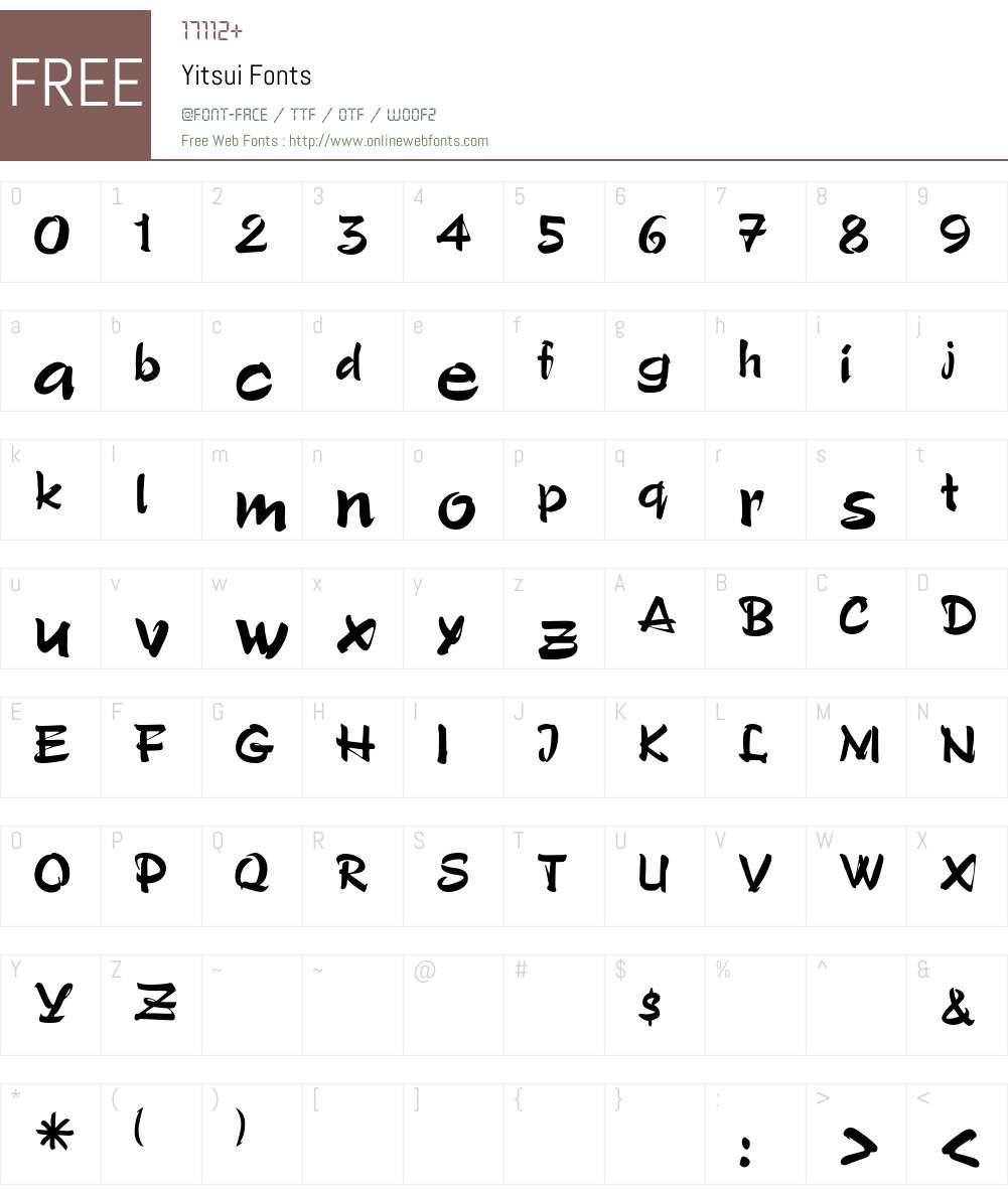 Yitsui Font Screenshots