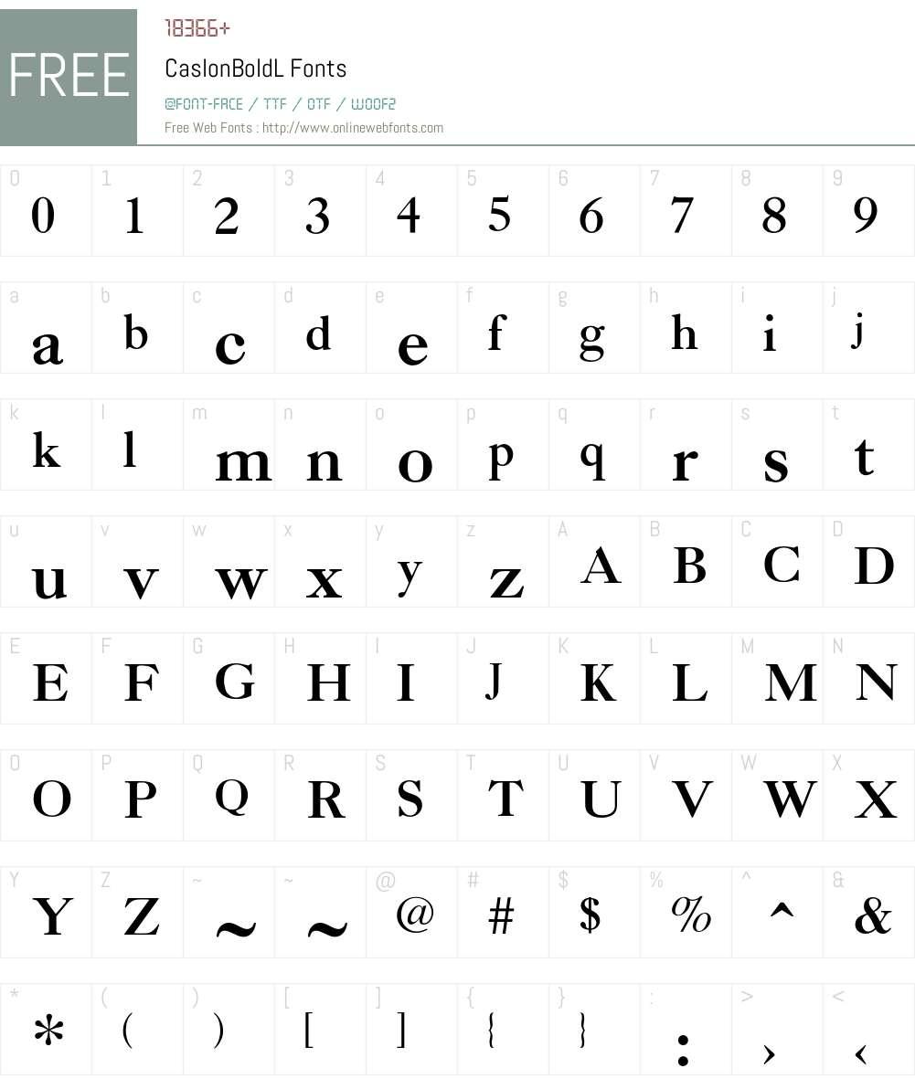 CaslonBoldL Font Screenshots